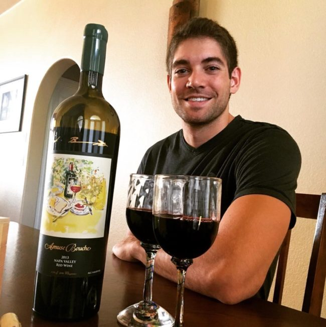 Tim Grittani with wine