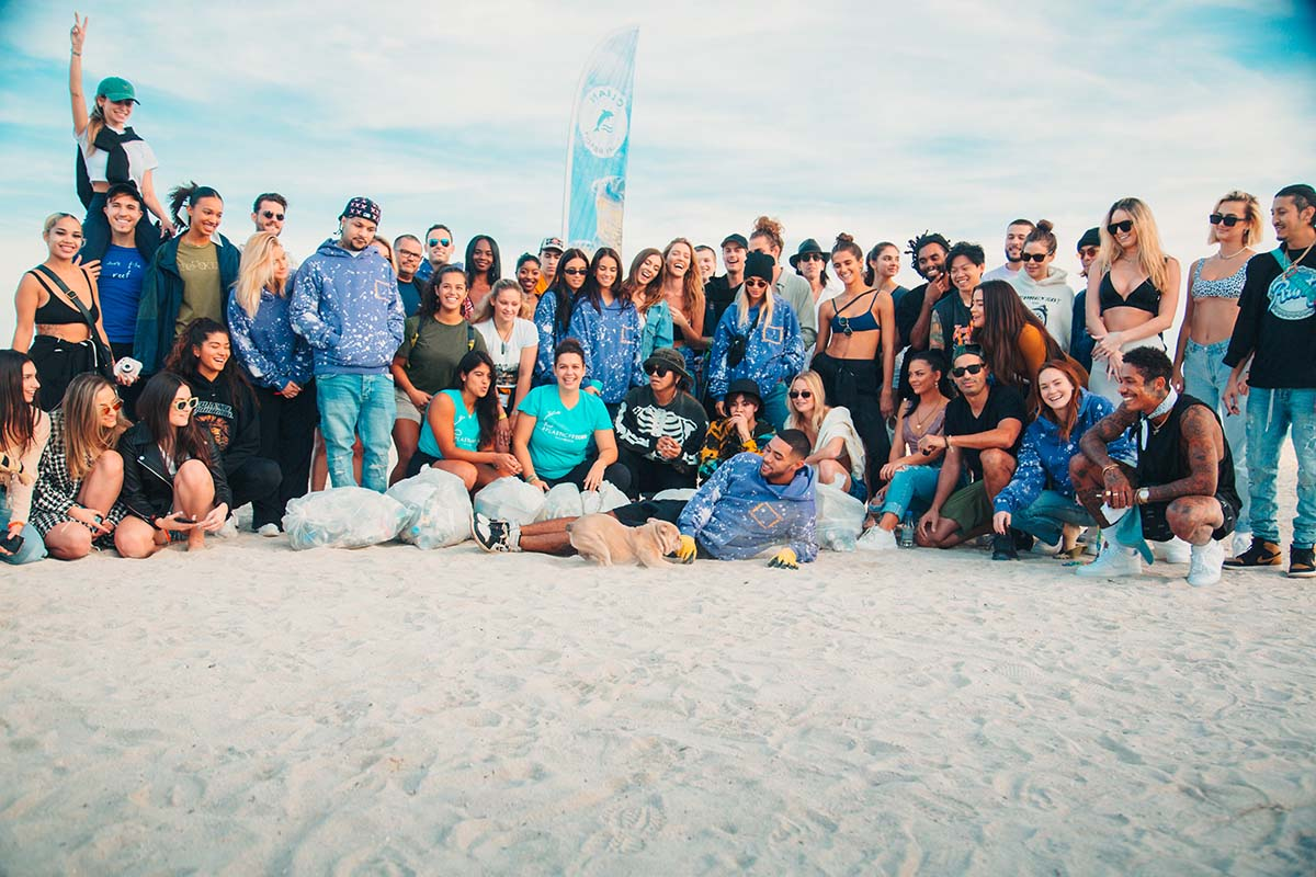 The Karmagawa crew cleans up Miami Beach December 5, 2019 © 2019 Millionaire Media, LLC