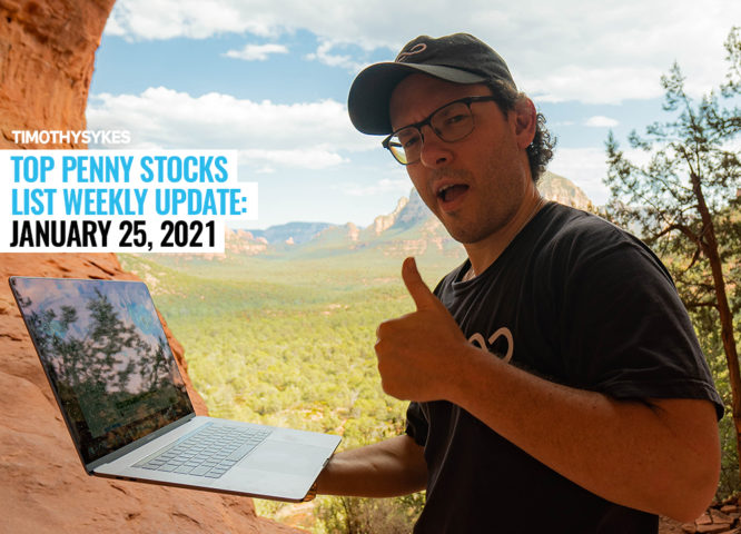 Top Penny Stocks List Weekly Update: January 25, 2021